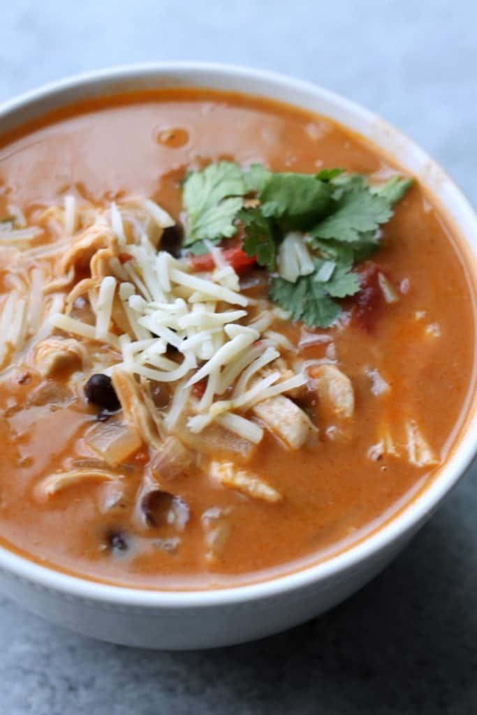 healthy chicken enchilada soup