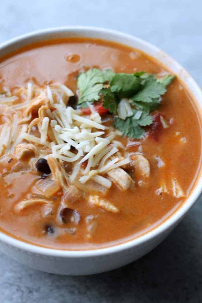 Healthy Chicken Enchilada Soup