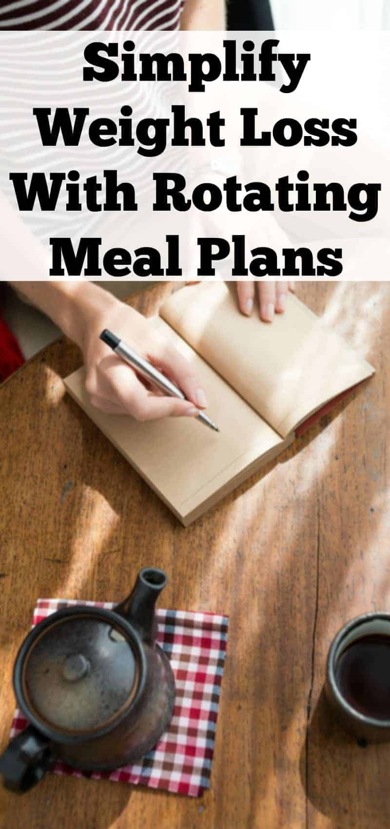 Simplify Weight Loss With Rotating Meal Plans