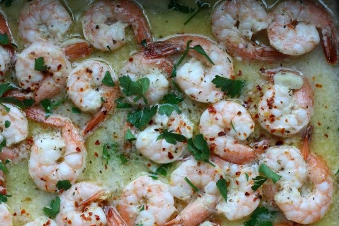 garlic shrimp sauteed in butter