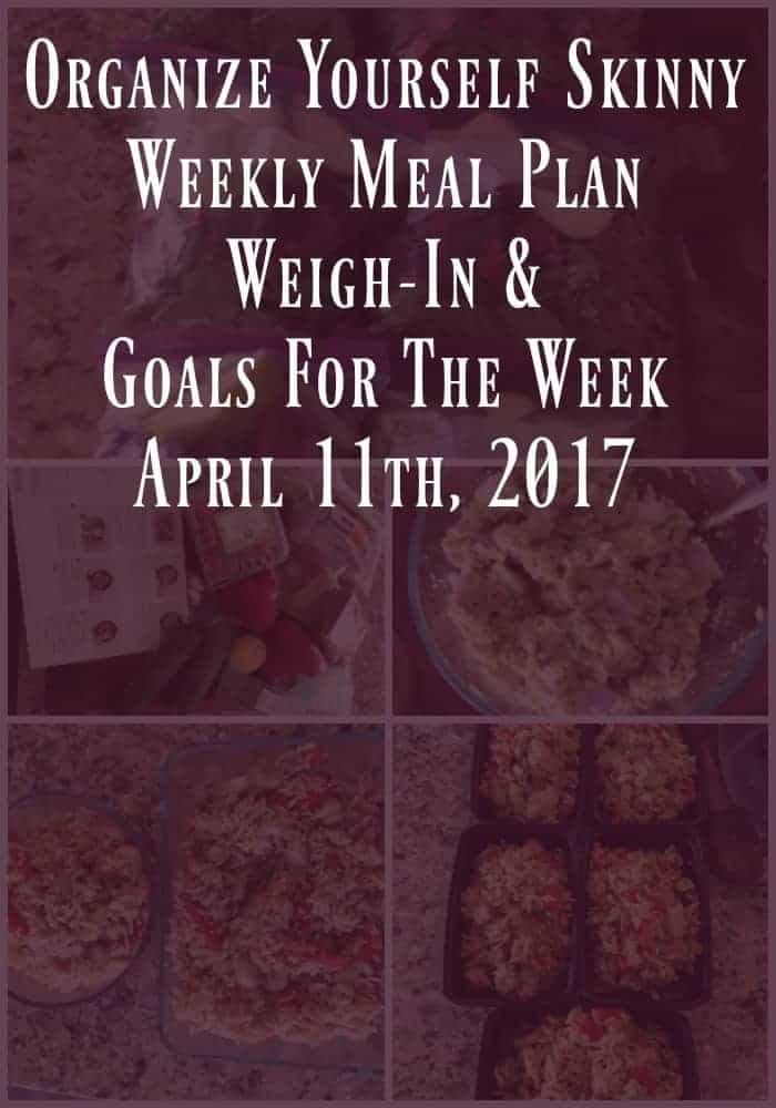 Weekly weight loss meal prep meal plan
