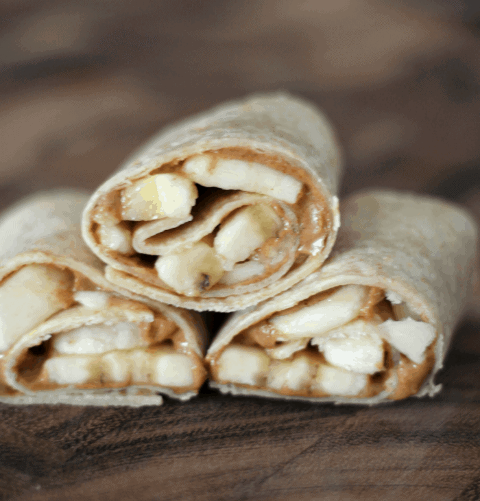 Almond Butter & Banana Snack Wraps
