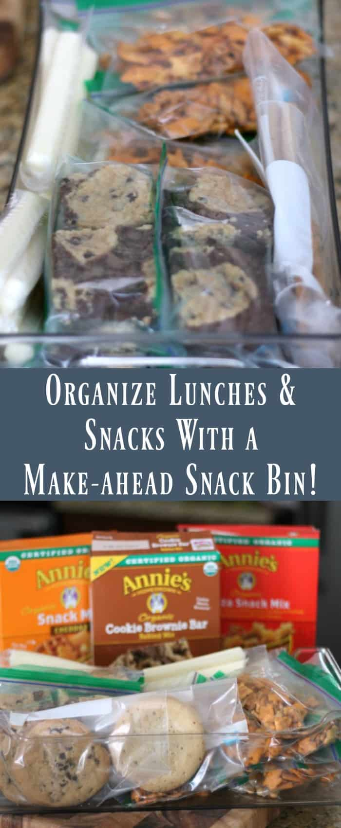 Organize Lunches and After School Snacks With a Snack Bin