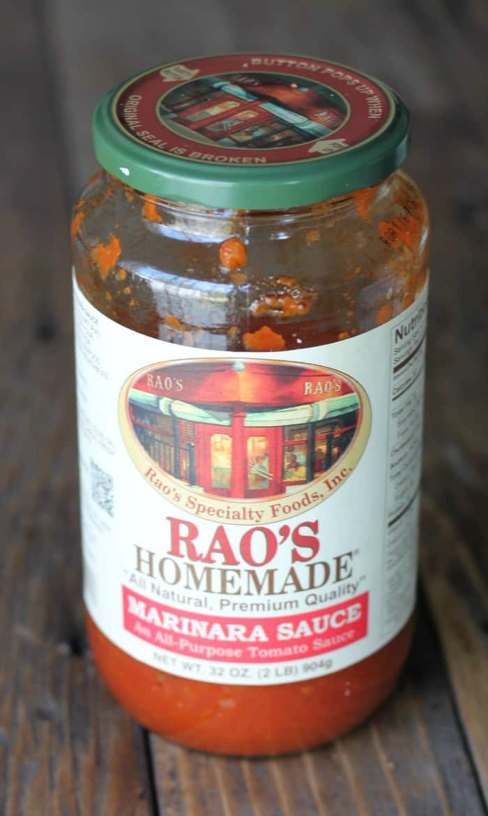Jar of Rao's homemade sauce