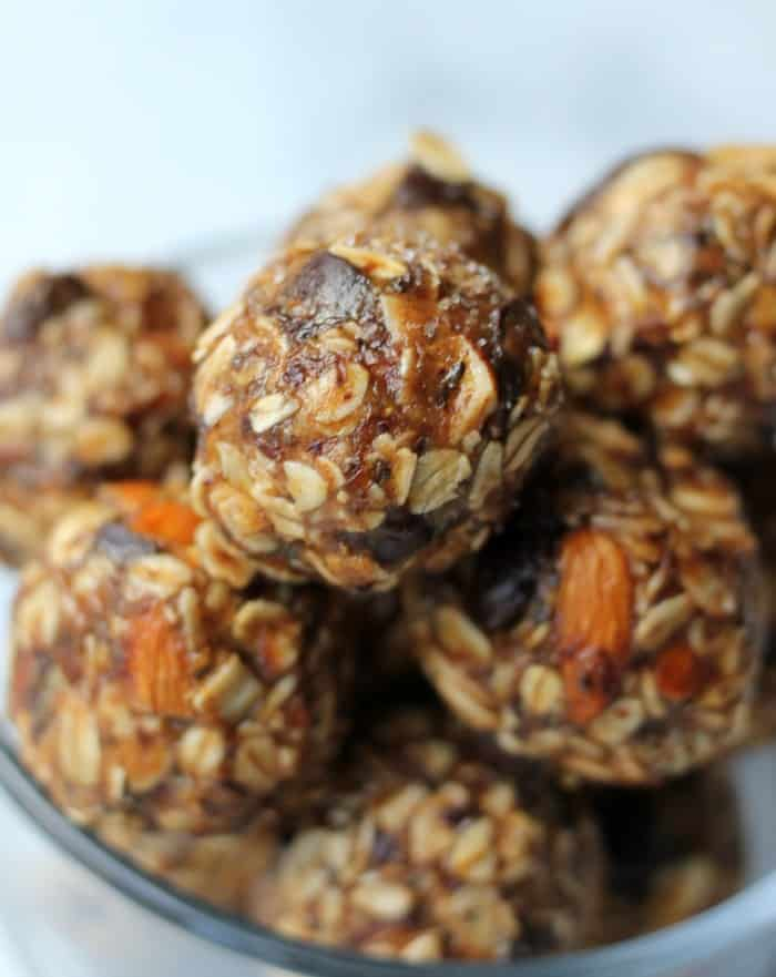 Salted Dark Chocolate & Almond Healthy Energy Balls