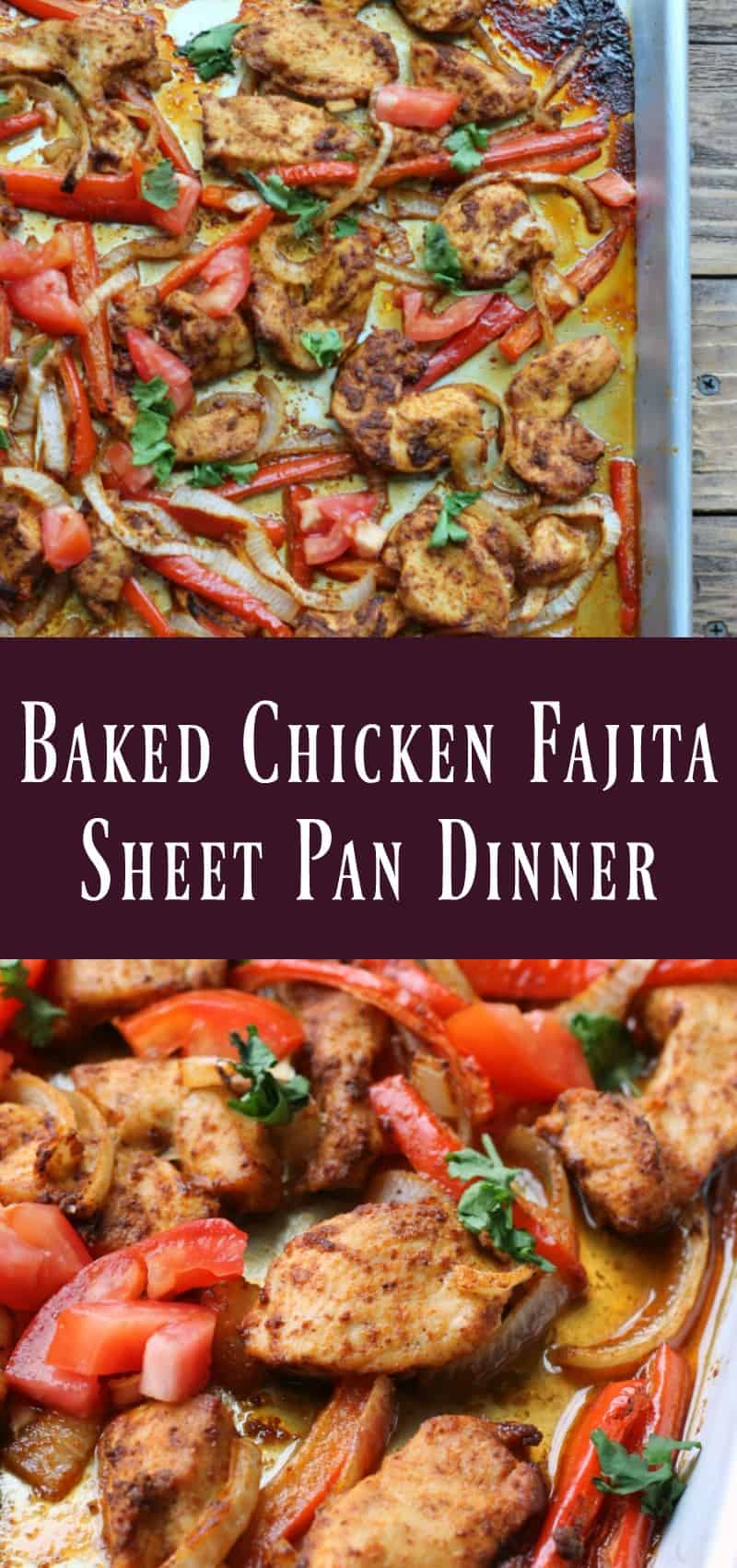 Healthy Baked Chicken Fajita Sheet Pan Dinner