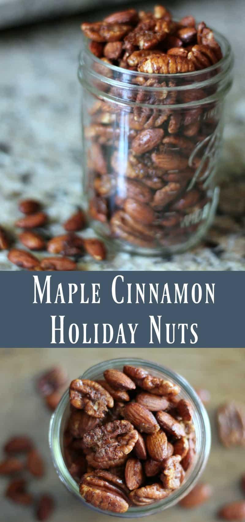 Maple Cinnamon Holiday Nuts