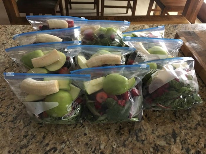 How to make green smoothies freezer kits