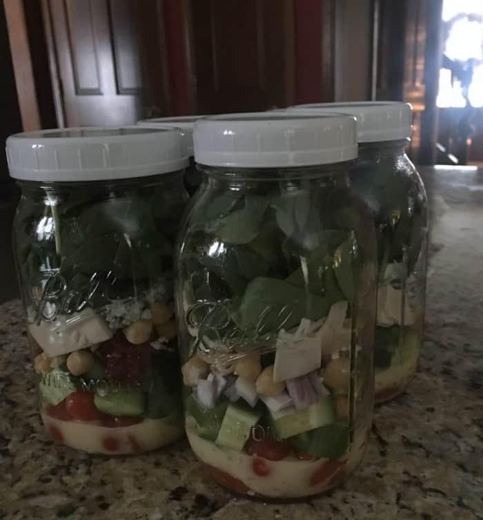 Mason Jar Salad Meal Prep Idea