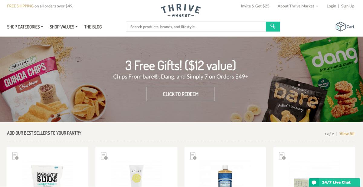 Thrive Market Website