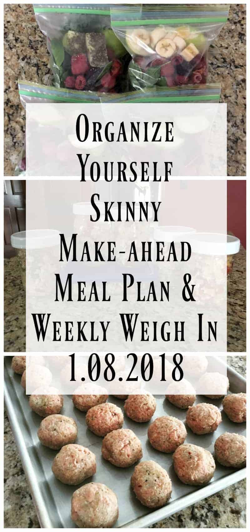 Make-ahead Meal Prep Weight Loss Meal Plan January 8th, 2018