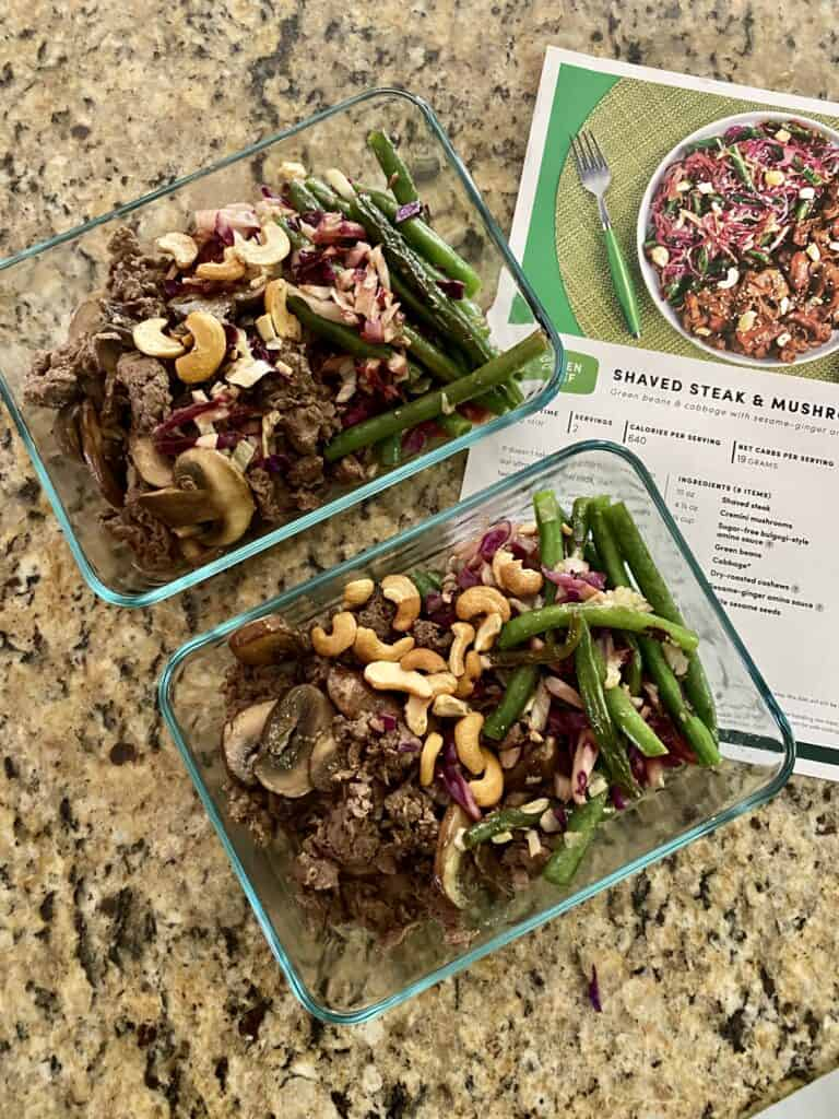 beef recipe in meal prep bowls