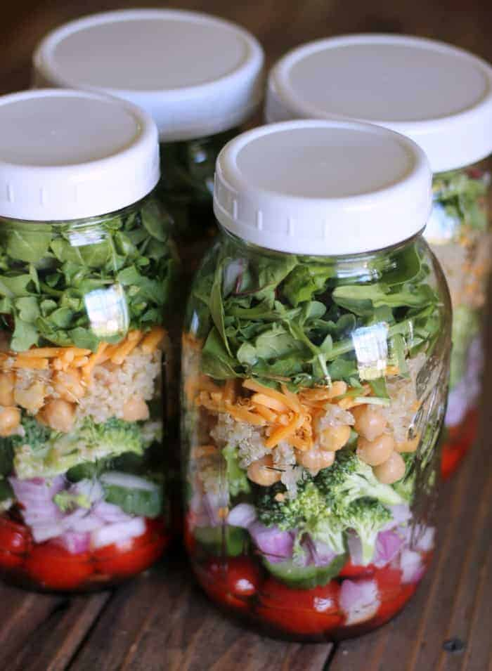 Mason Jar Salad: Greens and Ancient Grains (CoreLife Copycat Recipe) #masonjarsalad