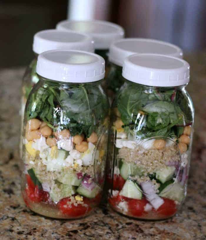 mason jar salad meal prep