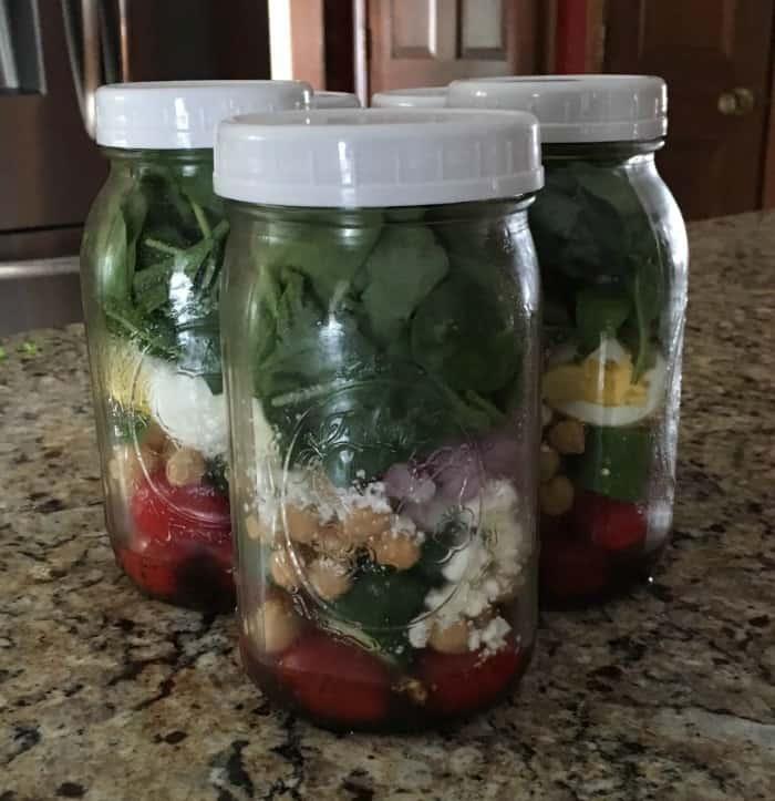 mason jar salad plastic lid