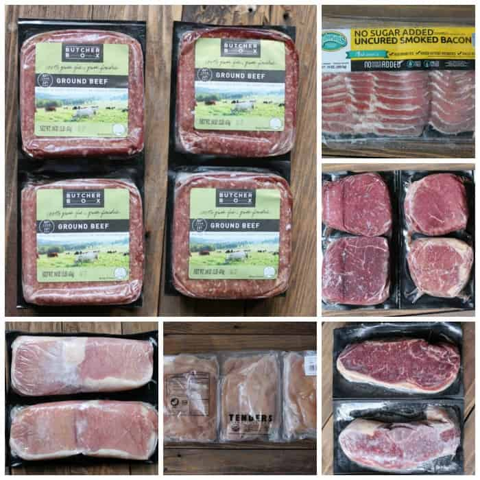 what's in a box of butcher box