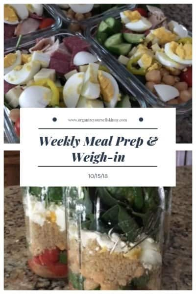 Weekly Meal Prep & Weigh-in {October 15th, 2018}