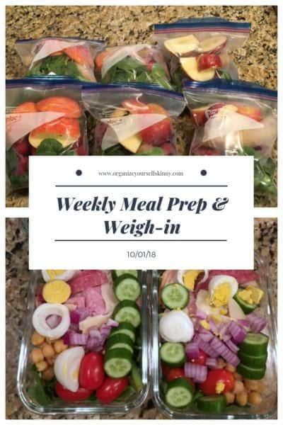 Weekly Meal Prep & Weigh-in {October 1st, 2018}