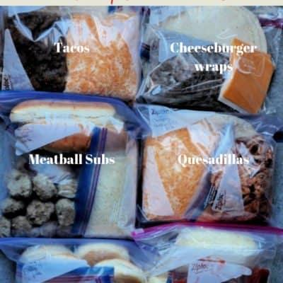 Make ahead freezer meals: My 6 Favorite Freezer Meal Kits!