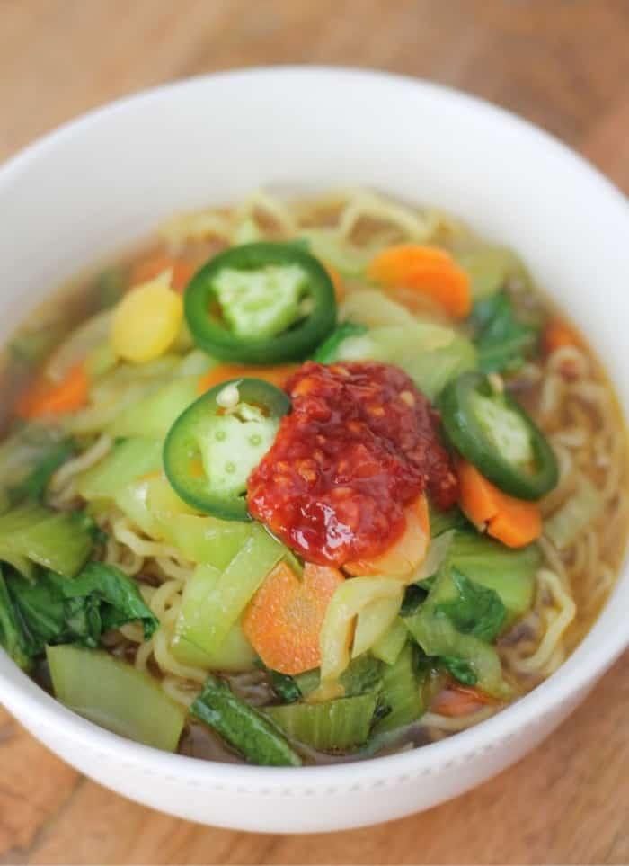 purple carrot ramen soup