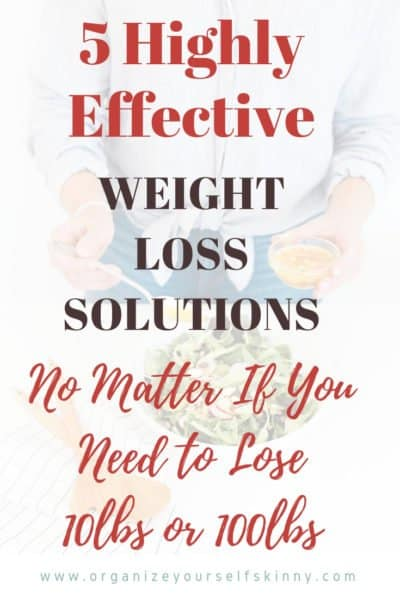 Weight Loss Solutions No Matter If You Need to Lose 10lbs or 100lbs