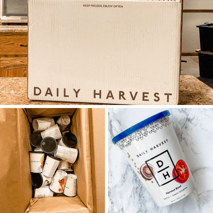 daily harvest box with smoothie cups
