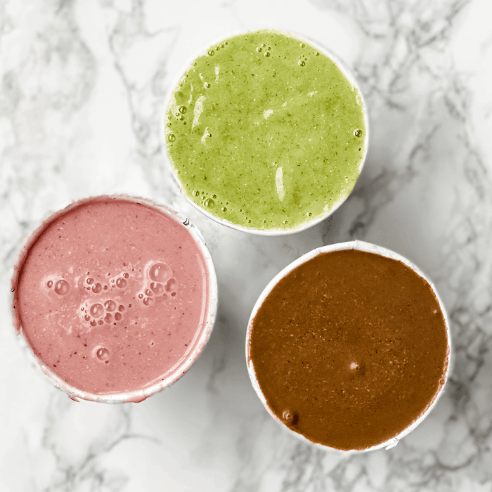 three smoothies