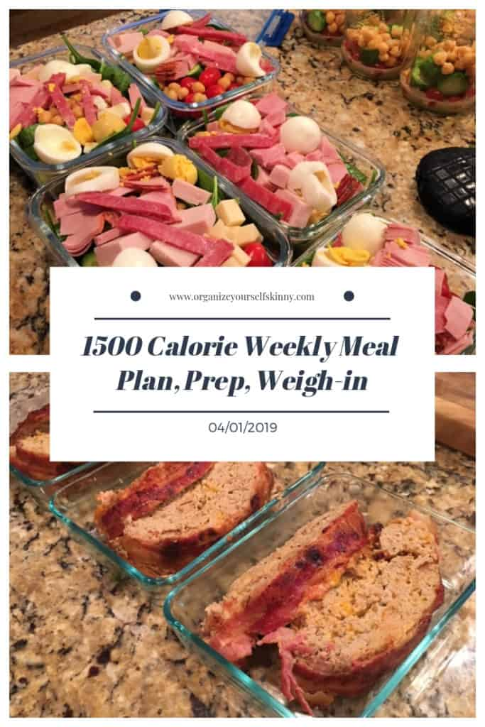 weekly 1500 calorie meal plan and once a week meal prep