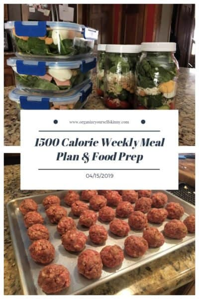 1500 Calorie Weekly Meal Plan & Food Prep {April 15th, 2019)