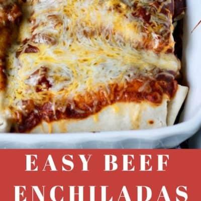 Easy Beef Enchiladas