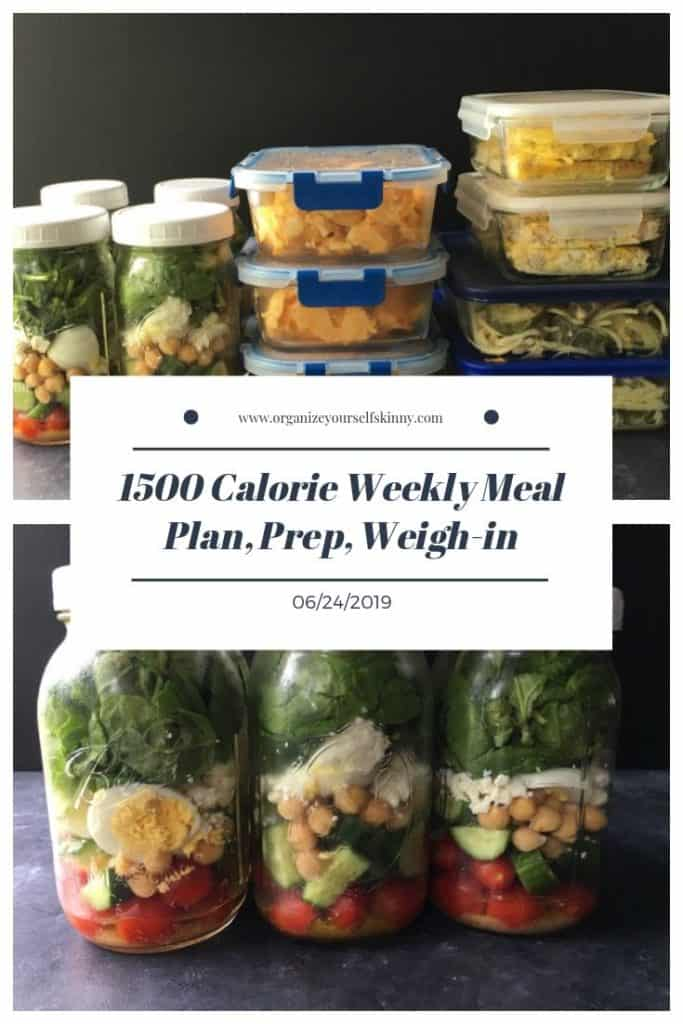 1500 Meal Plan and Prep