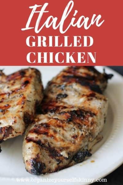 The Best Italian Grilled Chicken