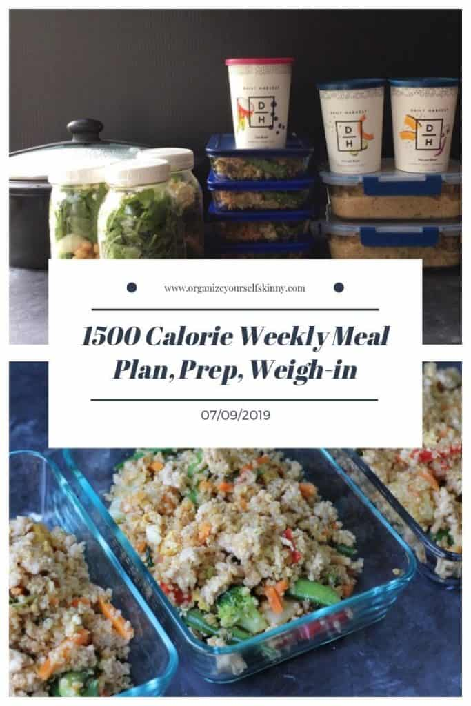 1500 calorie family friendly weight loss meal plan and prep