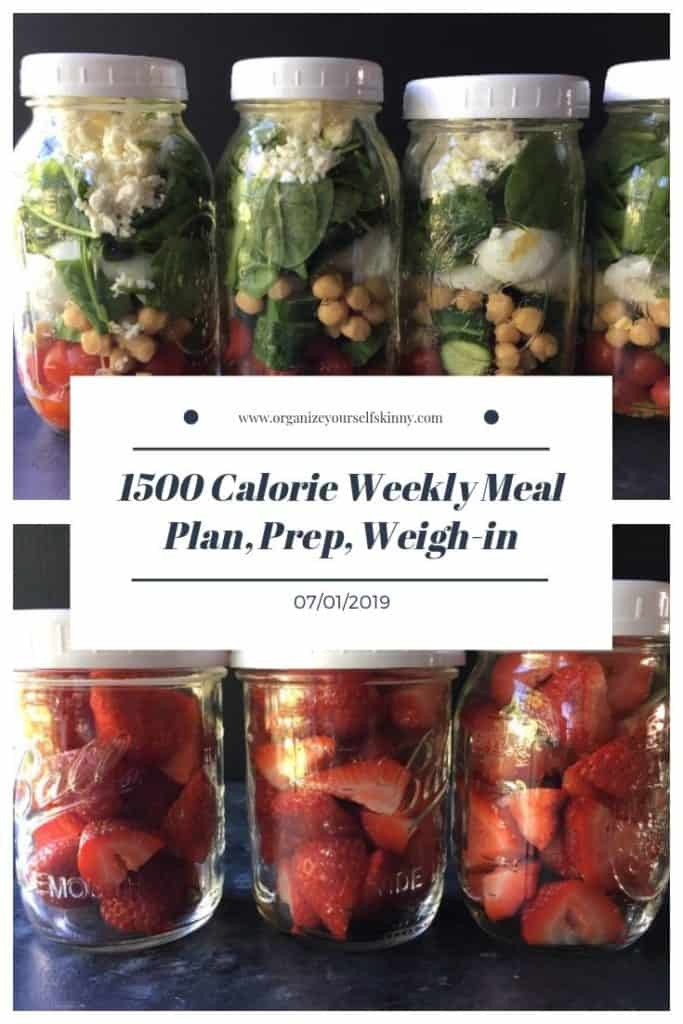 1500 calorie Make-ahead meal plan