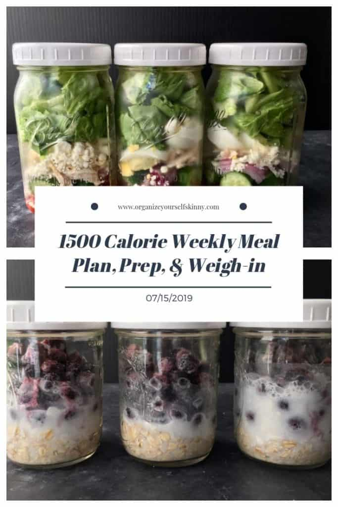 1500 calorie make-ahead meal plan and exercise schedule