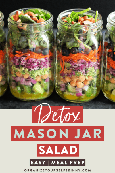 Easy Detox Salad In A Jar {Vegan Meal Prep Idea}