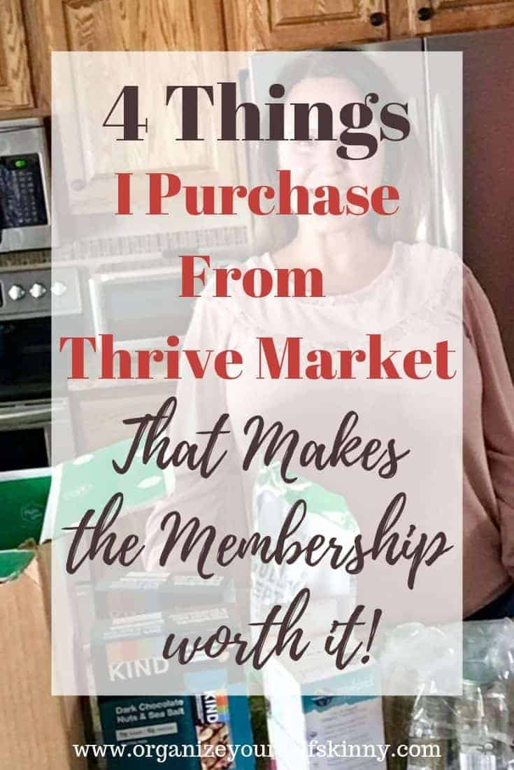 4 Thrive Market Items I Purchase. Thrive Market review.