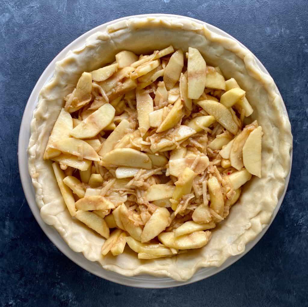 Apple pie homemade filling