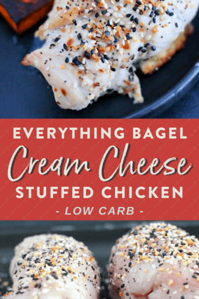 Everything But The Bagel Stuffed Cream Cheese Chicken {Low Carb}