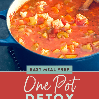 Low-carb chicken soup {Detox soup recipe}