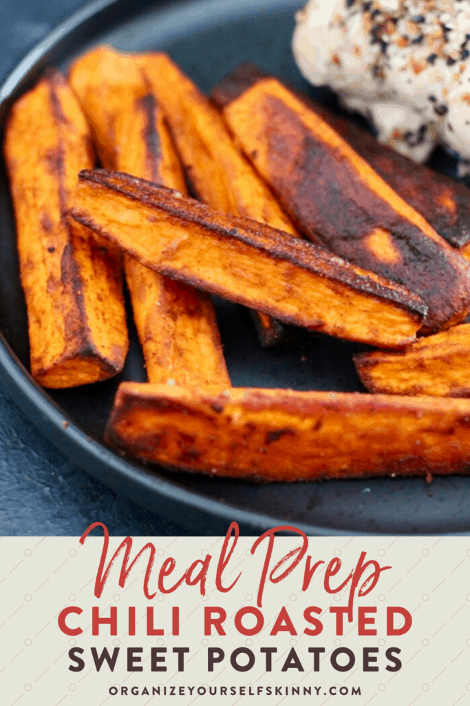 meal prep chili roasted sweet potatoes to prepare for the Whole30 diet