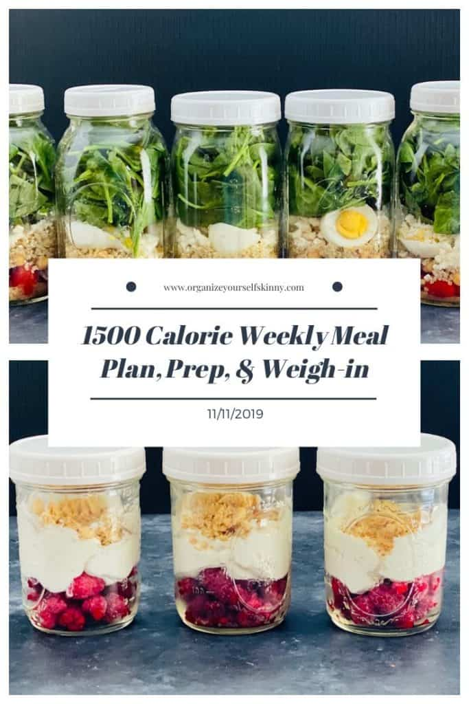 Weekly Make-ahead meal plan