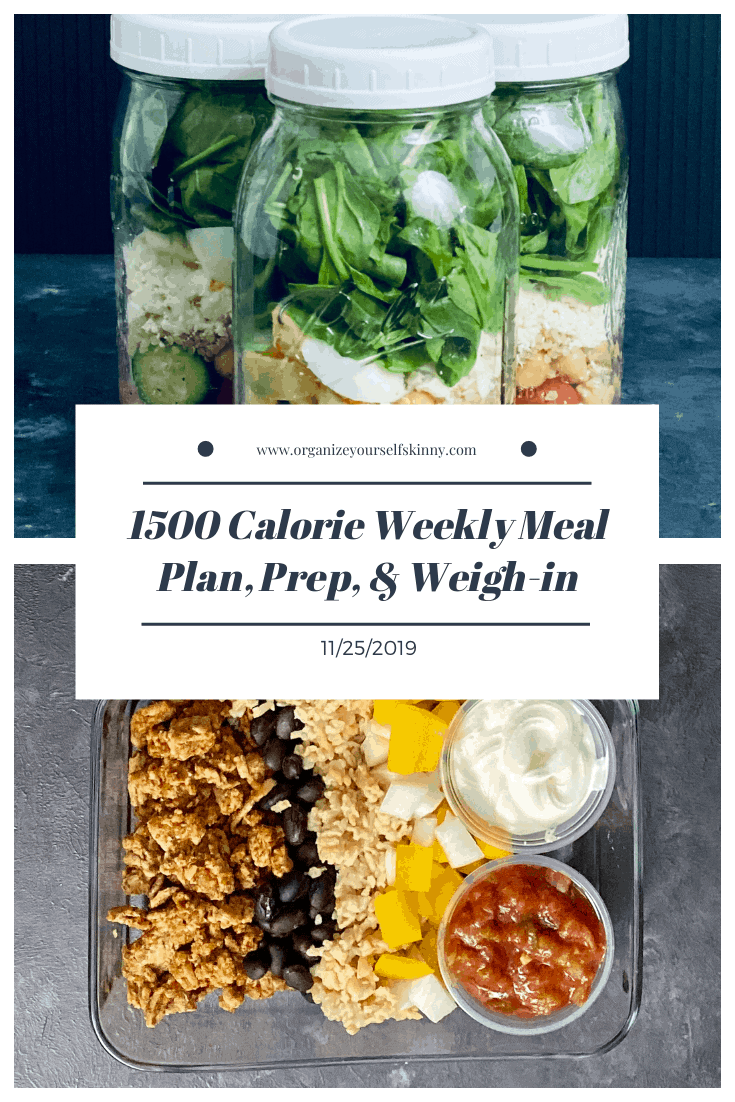Make-ahead meal plan, meal prep, and weigh-in {lNovember 25th, 2019)