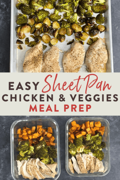 easy sheet pan chicken and veggies meal prep