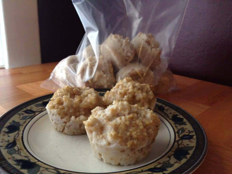 how to freeze steel cut oats in muffin containers