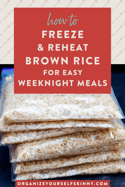 How to Freeze and Reheat Cooked Brown Rice