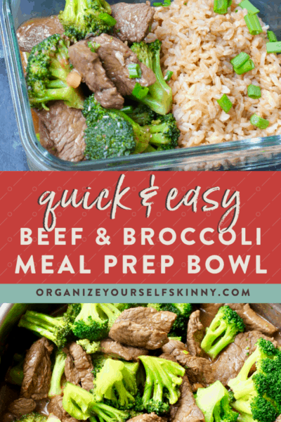 Easy Beef and Broccoli {meal prep recipe}