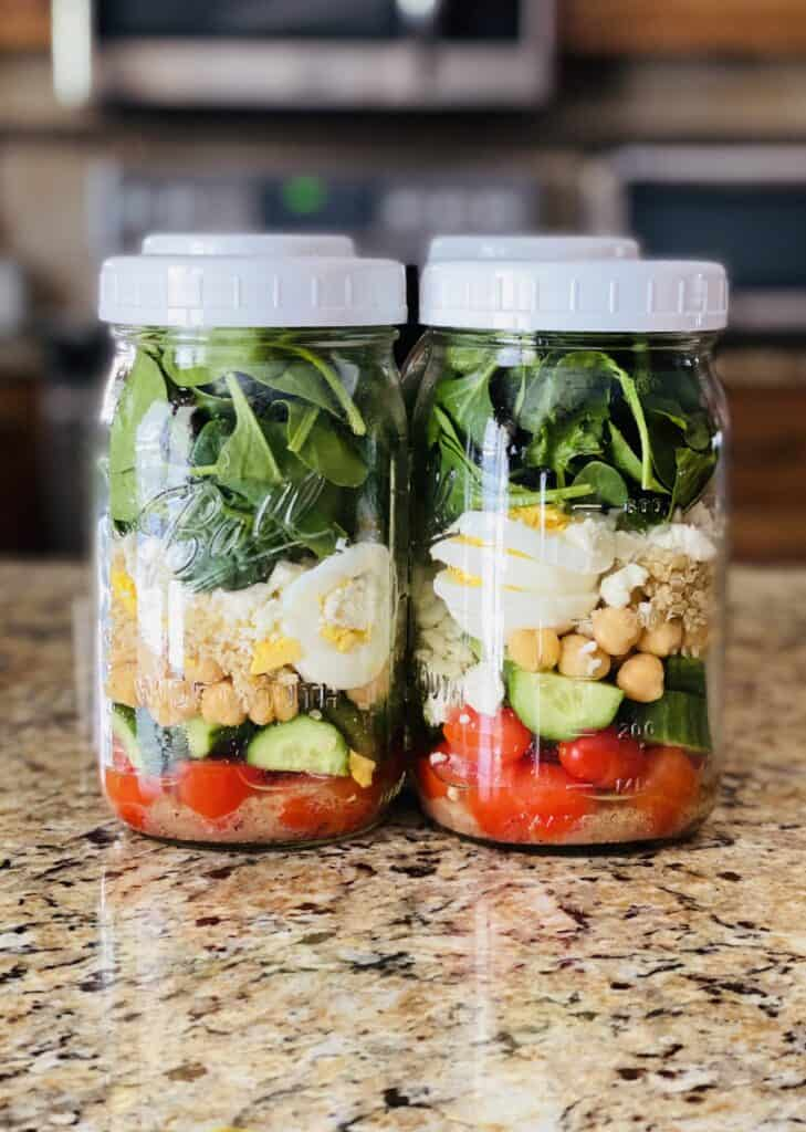mason jar salads for the week