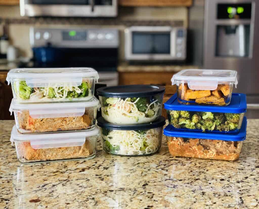 Meal Prep for the Week in containers