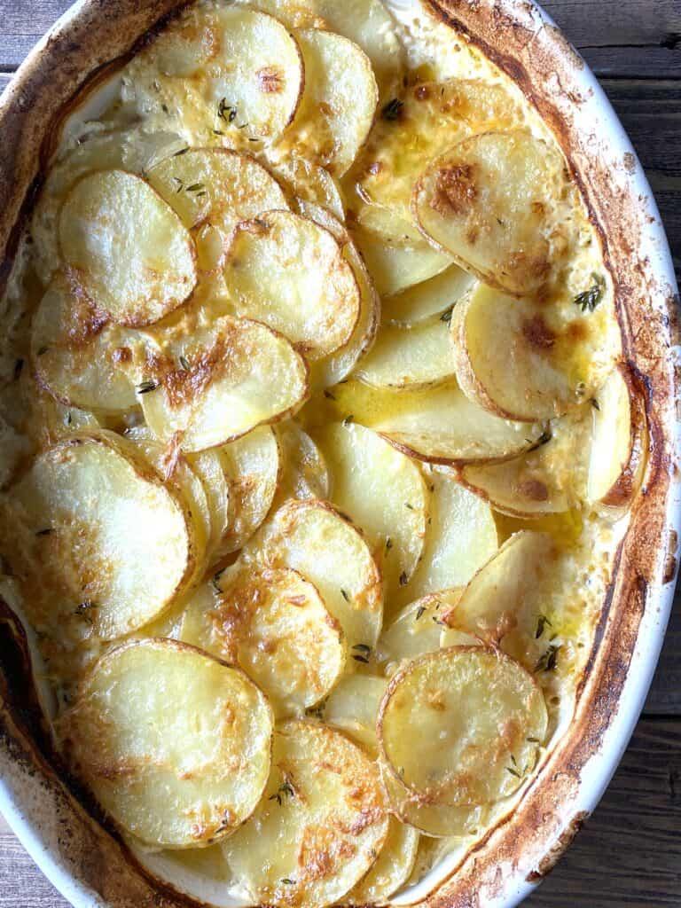 Potato au gratin for Easter food ideas